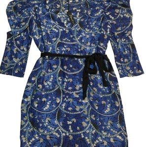Elizabeth and James short dress blue Silk Japanese Floral Silk Holiday Party on Tradesy