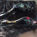 Gucci Pumps Heels Slides Pumps Tom Black Floral Sandals Image 4