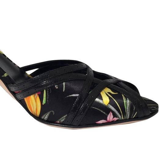 Gucci Pumps Heels Slides Pumps Tom Black Floral Sandals Image 7