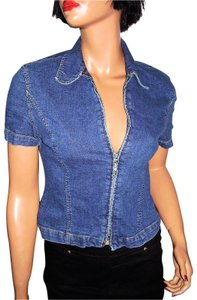 A|X Armani Exchange Vintage Denim Top blue