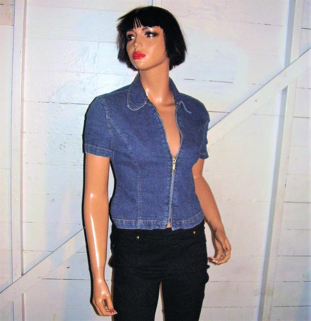 A|X Armani Exchange Vintage Denim Top blue Image 2