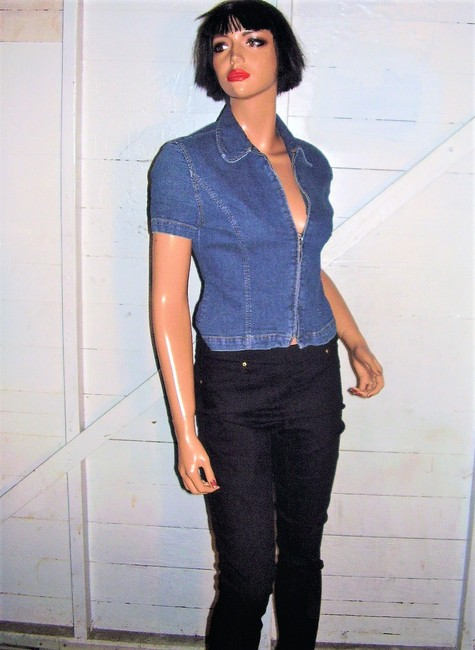 A|X Armani Exchange Vintage Denim Top blue Image 4