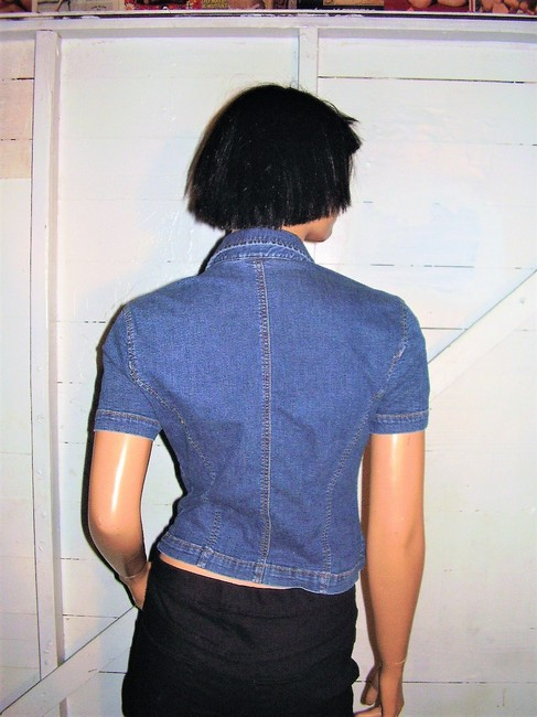 A|X Armani Exchange Vintage Denim Top blue Image 5
