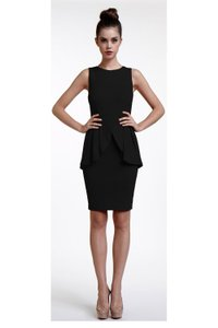 Erin Fetherston Stretchy Knit Peplum Fitted Sheath Dress