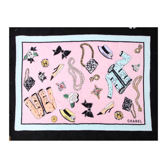 Chanel Chanel Pink Beach Towel 1996 - RARE Image 0