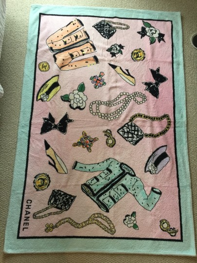 Chanel Chanel Pink Beach Towel 1996 - RARE Image 1