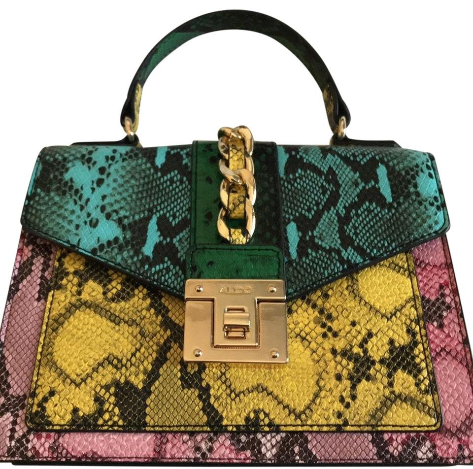 f177bf0b0d6 ALDO Multi-colored Snakeskin Leather Cross Body Bag - Tradesy