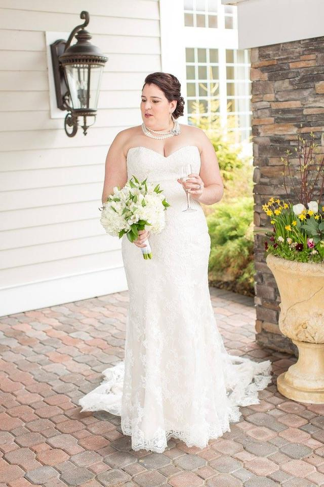 Maggie Sottero Champagne/Ivory Lace Overlay Chesney Formal Wedding ...