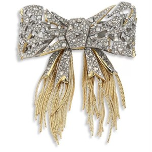 Alexis Bittar Mosaic Lace Bow Brooch NWOT