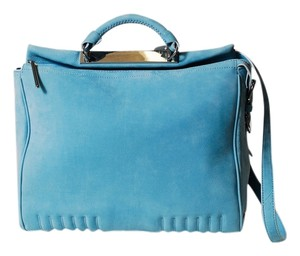 3.1 Phillip Lim Ryder Suede Ryder Ryder Ryder Satchel in Cornflower / Light Blue