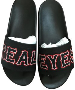 3c29a66af585 Givenchy black and red Flats. Givenchy Black and Red Real Eyes Men s Slides  ...