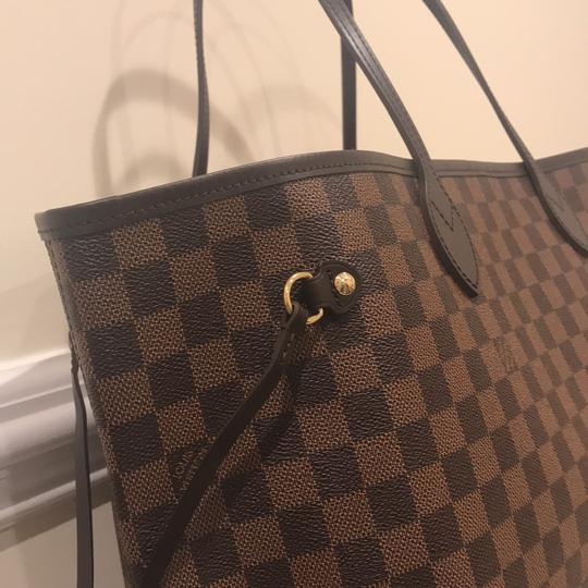 84450241938b Louis Vuitton Damier Ebene Canvas Neverfull Tote - Tradesy