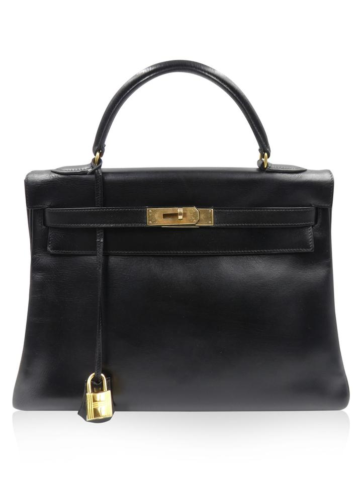 5c79262df6a7 Hermès Kelly Vintage 1954 32 Black Leather Satchel - Tradesy