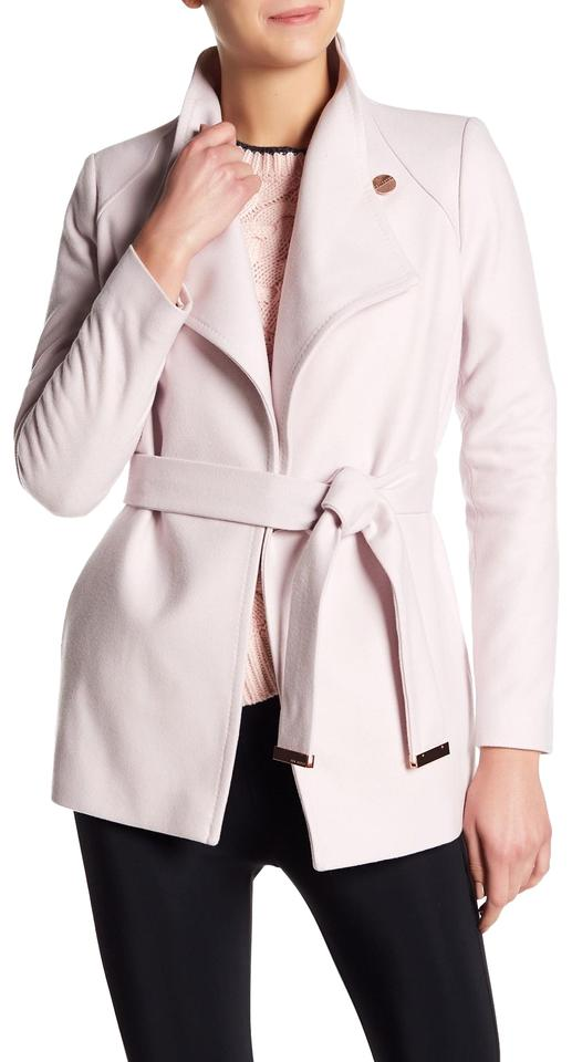 bc73af618 Ted Baker Nude Pink Elethea Short Wrap Collar Coat Size 8 (M) - Tradesy