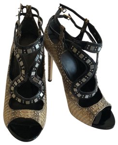 Brian Atwood Black and Tan Formal