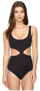 Mara Hoffman Solid Knot-Front Cut Out One Piece