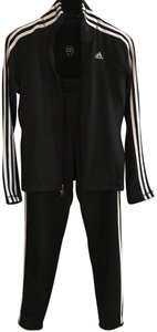 ADIDAS CLIMALITE TRACK Suit Pink and Black Zip Up Jacket Sz