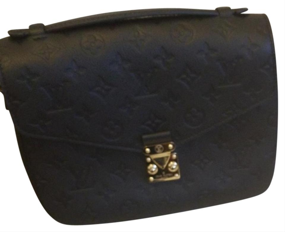 0e17b66e6e9e Louis Vuitton Pochette Metis Code  Du4817 Black Monogram Empreinte Leather  Cross Body Bag