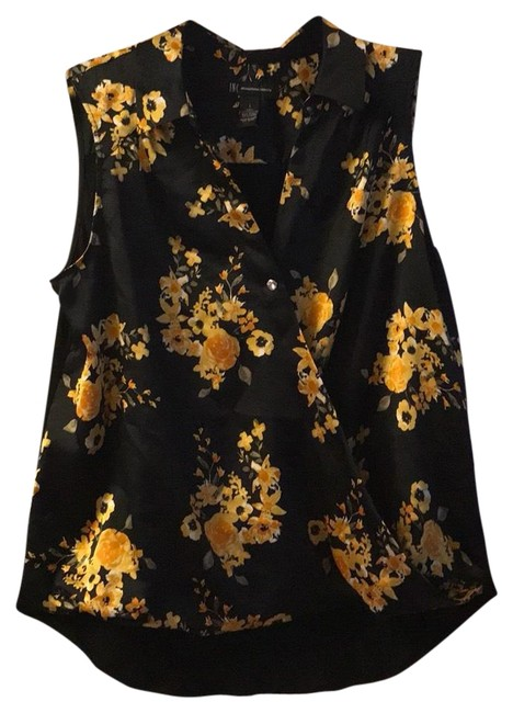 Preload https://img-static.tradesy.com/item/22714265/inc-international-concepts-black-floral-print-blouse-size-12-l-0-1-650-650.jpg