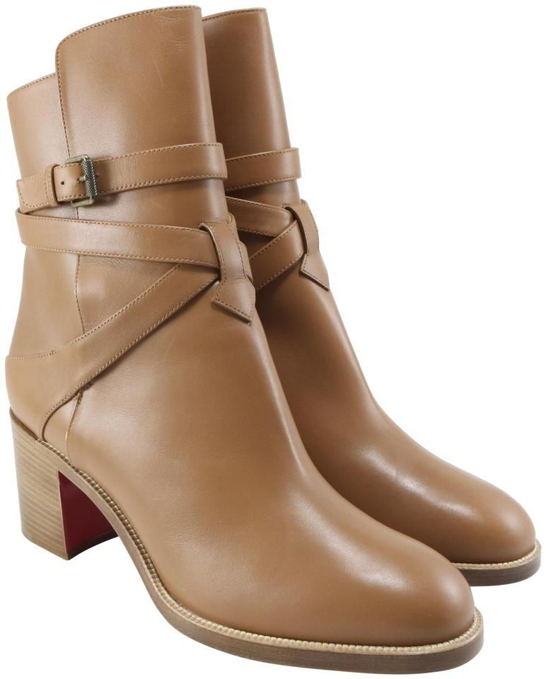 41e2d192880f Christian Louboutin Brown Karistrap 70mm Cuoio Calf A494 Boots Booties