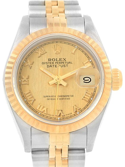 Preload https://img-static.tradesy.com/item/22714410/rolex-champagne-datejust-26-steel-yellow-gold-roman-dial-ladies-69173-watch-0-1-540-540.jpg