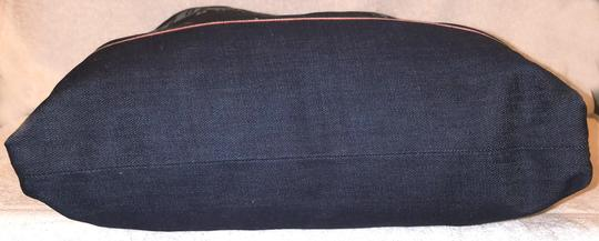 True Religion Nwot Denim Extra-large Leather Trim Tote in Navy Image 3