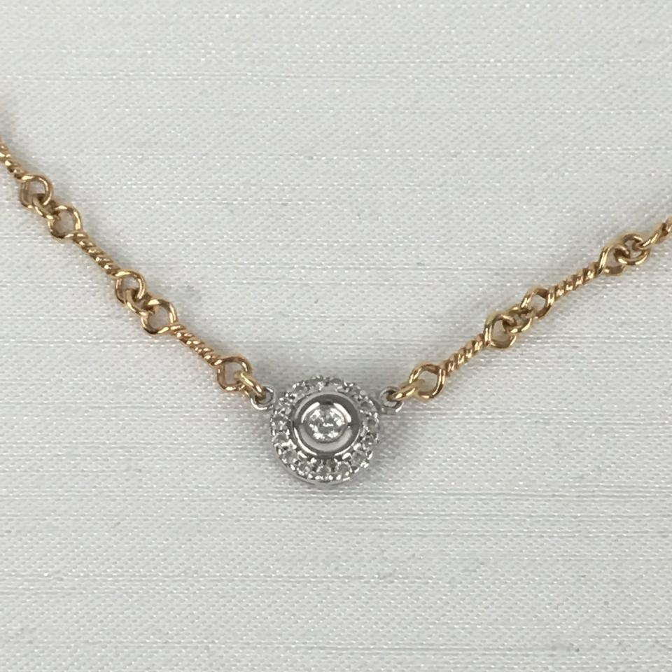 Roberto coin gold 18kt diamond dog bone necklace tradesy diamond dog bone necklace 12345678910 aloadofball Gallery