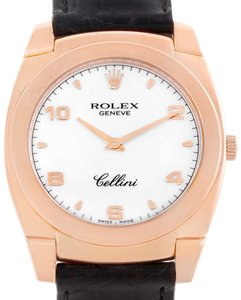 Rolex Rolex Cellini Cestello 18K Rose Gold White Dial Mens Watch 5330