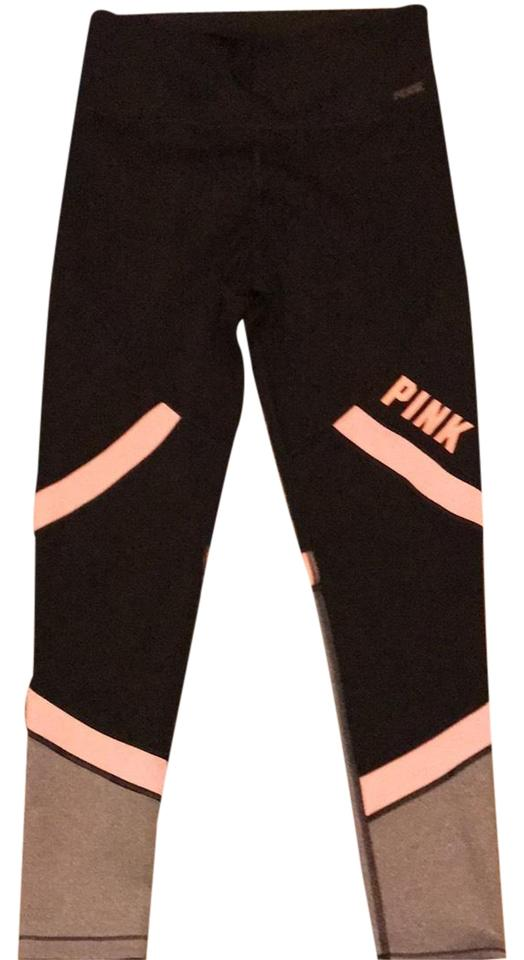 c833835a6d336 Victoria's Secret Black Pink Leggings Size 12 (L, 32, 33) - Tradesy
