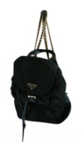 Preload https://item1.tradesy.com/images/prada-simple-chic-black-and-gold-leather-and-prada-s-fabric-backpack-22715-0-0.jpg?width=440&height=440