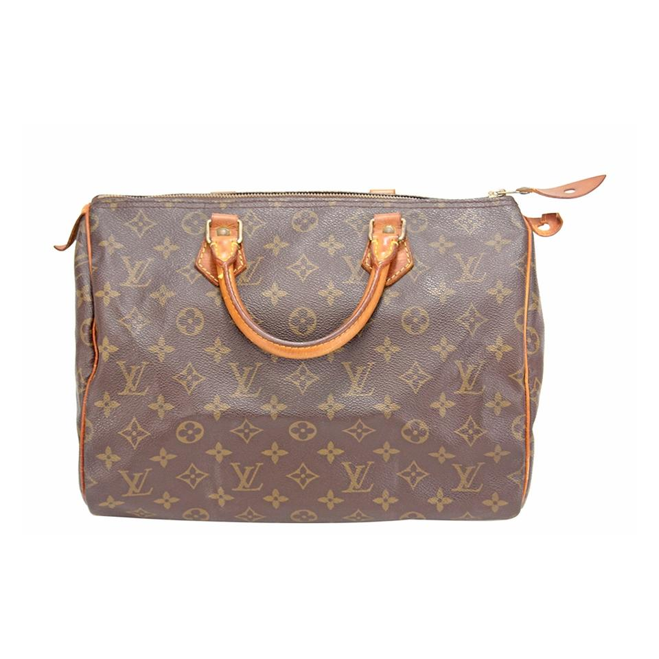 1565398d4606 Louis Vuitton Speedy Monogram 30 Hand Purse M41526 Brown Canvas Tote ...
