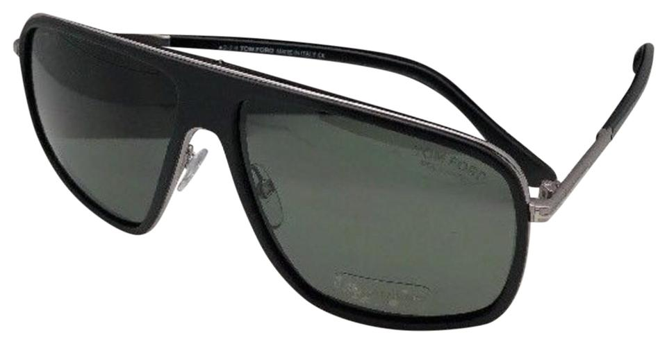 740c0f583d Tom Ford Polarized Quentin Tf 463 02r 60-13 Black Frame W  Green Lens W   Sunglasses
