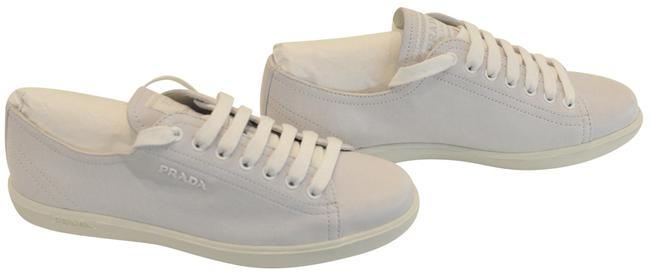 Item - Grey Leather Sneakers Size EU 36.5 (Approx. US 6.5) Regular (M, B)