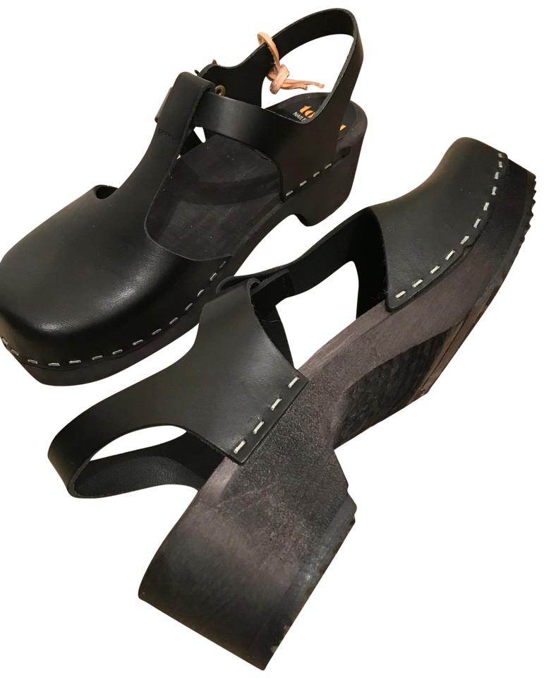 womens hasbeens swedish hasbeens womens Black Mules/Slides quality Queen decce5