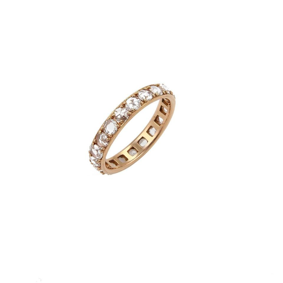 eternity diamond rose itm band ring half stackable women wedding gold bands