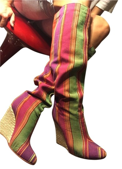 Christian Louboutin Limited Edition Louboutin Mixed Colors Boots