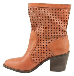 Donald J Pliner Elegant Sexy Soft Leather Summer Tan/Mattone Boots
