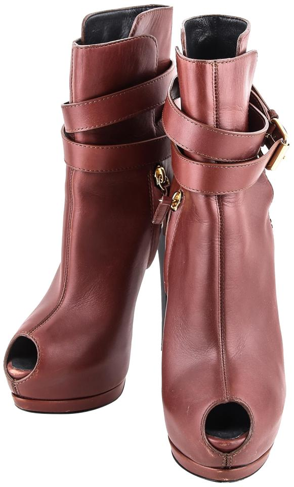 Giuseppe Zanotti * Strap Brown 150mm Nappa Ankle Strap * Low Boots/Booties 343997