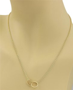Cartier - Baby Love 18k Yellow Gold Double Mini Ring Pendant Necklace
