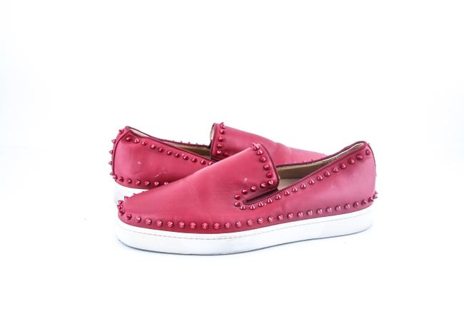 Item - * Red Roller Boat Spikes Sneakers Shoes