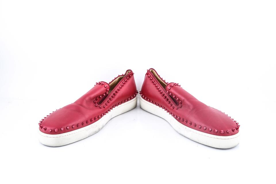 be241bf949ab Christian Louboutin   Red Roller Boat Spikes Sneakers Shoes Image 6. 1234567