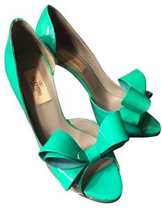 Valentino Heels Sea Blue Pumps