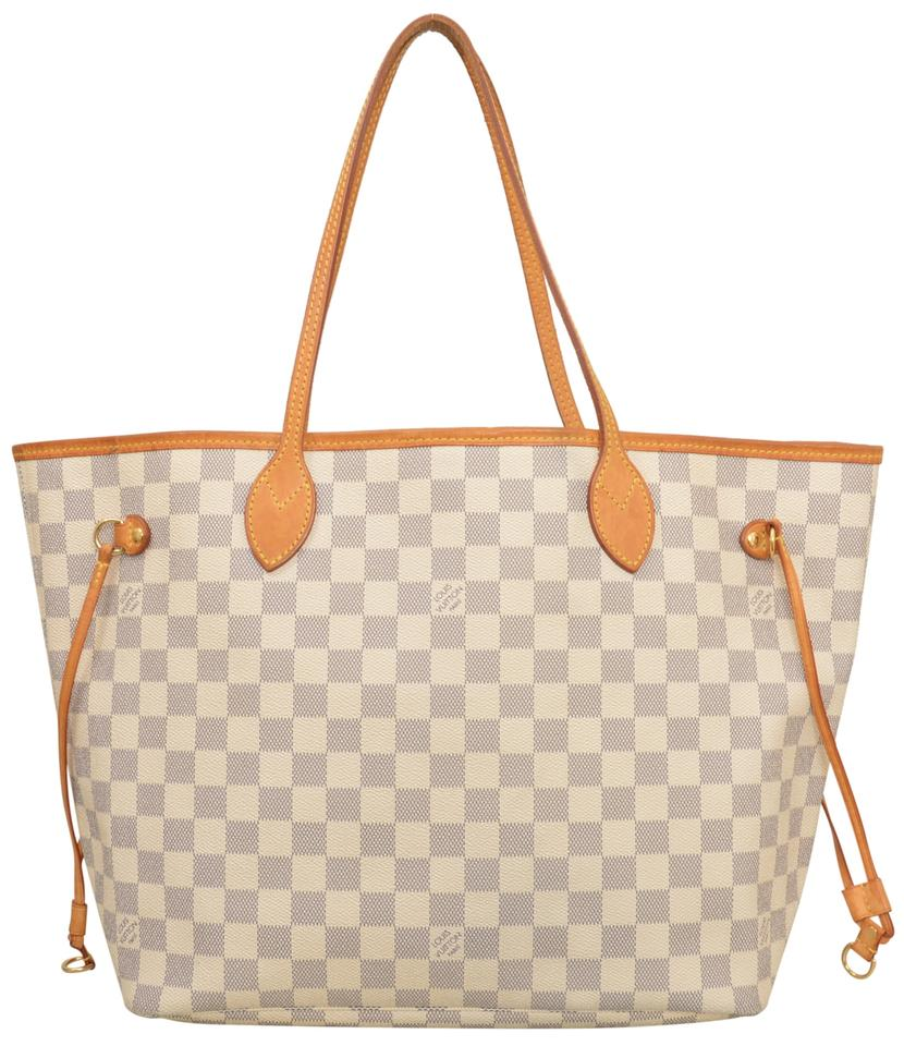 50% price get online hot new products Louis Vuitton Shoulder Bag Neverfull Mm Shopper N51107 White ...