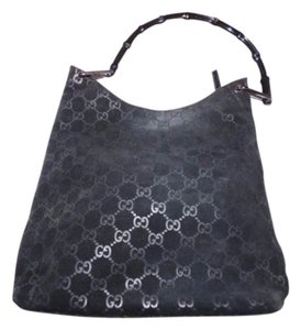 b550f1fb2b41 Gucci Bamboo Handle Chrome Hardware Excellent Vintage Dressy Or Casual Hobo  Bag