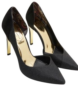 Ted Baker black with gold Pumps