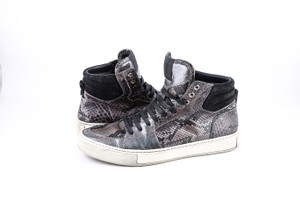 Saint Laurent * Brown Malibu High Python Sneakers Shoes