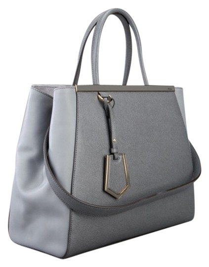 Fendi 2jours Elite Medium Leather Shopper New With Tag Grigio No Tax Free Shipping Made In Italy 2jours Tote in Grey