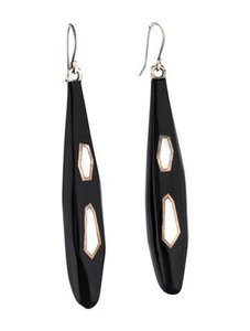 Ippolita Ippolita Black resin earrings with mother of pearl inlays