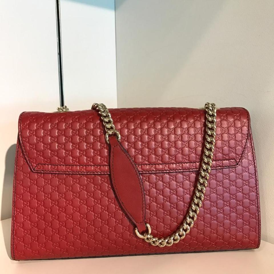 f37c7265f33 Gucci Emily Medium Red Leather Shoulder Bag - Tradesy