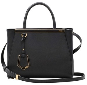 2602568949f1 Fendi New With Tag 2jours Small   Petite Leather Leather Made In Italy Tote  in Black